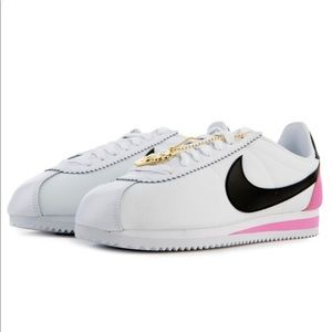 WOMEN'S CLASSIC CORTEZ White/Black-china Rose